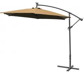 AGA EXCLUSIV LED 300 cm Coffee függő napernyő