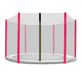 Aga Siatka do trampoliny 430cm 14ft zewnętrzna na 6 słupków Black net / Pink