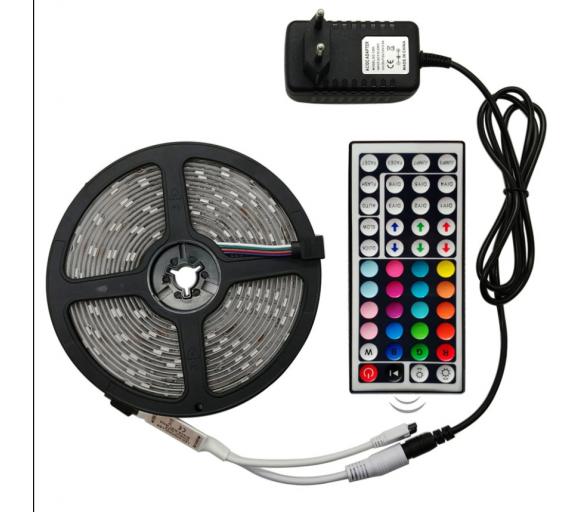 Aga LED pásek RGB 5 m + ovladač + zdroj