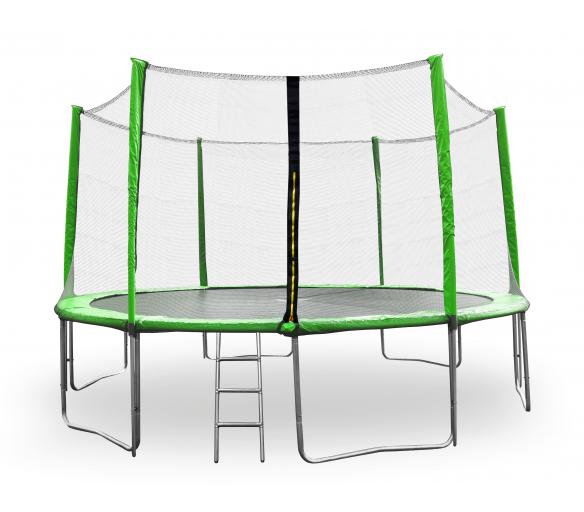 Aga SPORT PRO Trampolína 430 cm Light Green + ochranná síť  + žebřík + kapsa na obuv