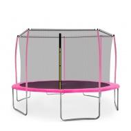 Aga SPORT FIT Trampolína 430 cm Pink + vnitřní ochranná síť