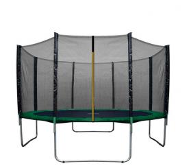 Aga SPORT UNI Trampolína 366 cm Dark Green + ochranná síť + žebřík