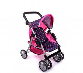Doris Sportovní kočárek pro panenky 9352 Hot Pink 1