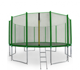 Aga SPORT PRO 500 cm trambulin dark Green + létra + Cipőzsák