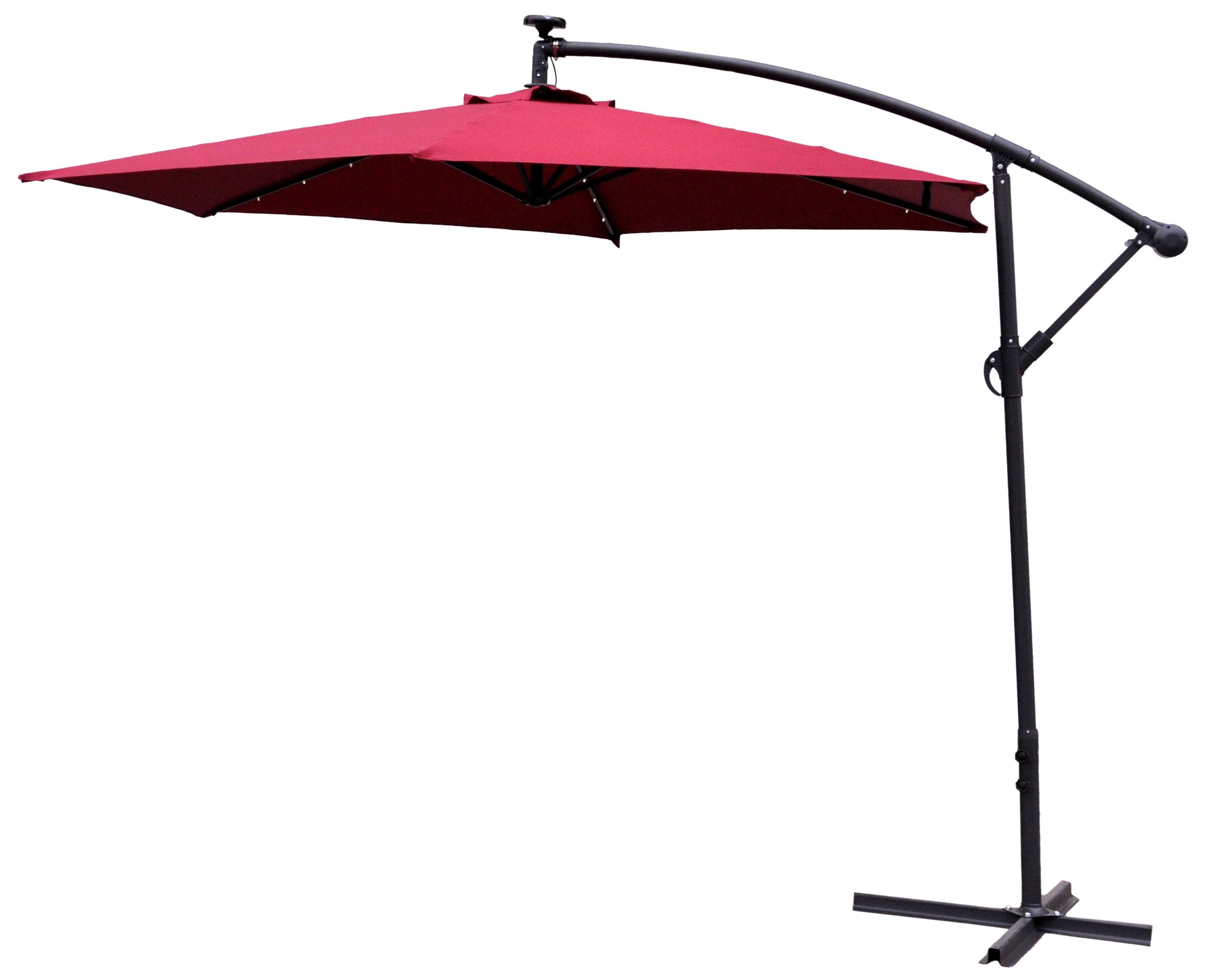 Aga Zahradní slunečník konzolový EXCLUSIV LED 300 cm Dark Red