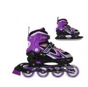 Nils Extreme gyerek korcsolya 2v1 NF18188 Violet