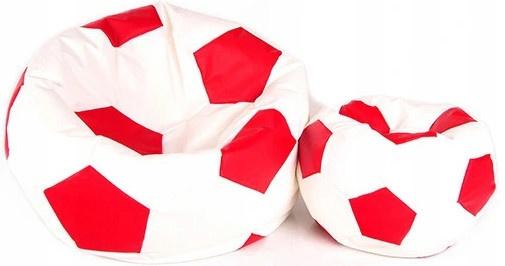 Aga Sedací pytel BALL XXXL Červená - Bílá