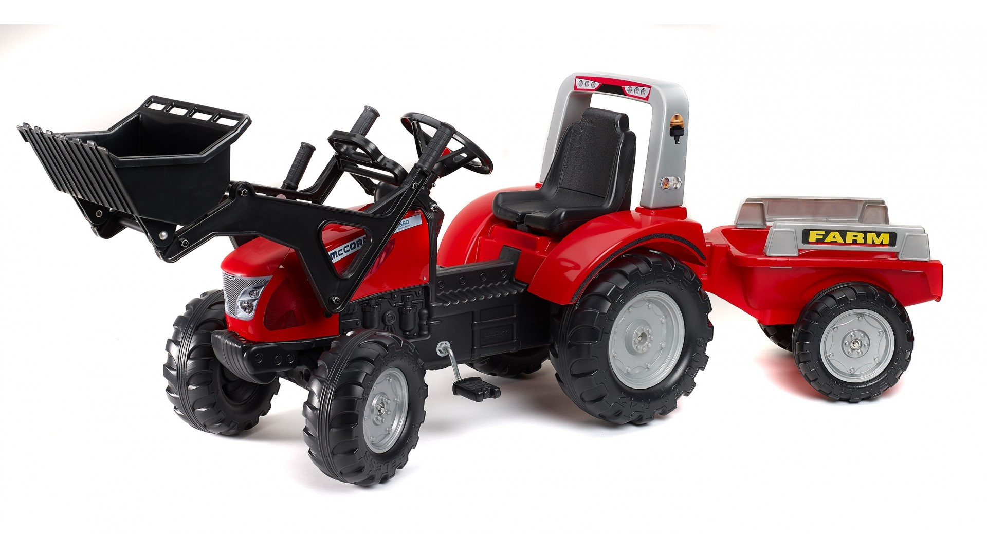 Falk Šlapací traktor MAC CORMICK X.7 3020AM s vlečkou