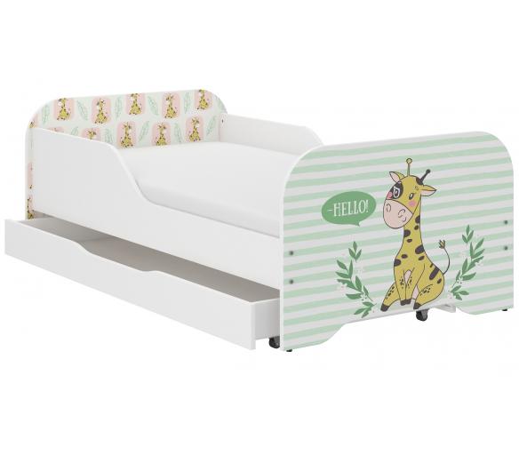 Wooden Toys Dětská postel Giraffe 140x70 cm