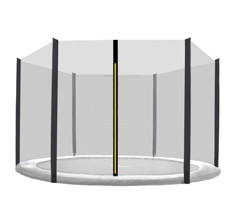 Aga Ochranná síť 250 cm na 6 tyčí Black net / Black