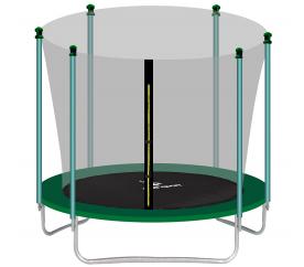 aGa SPORT FIT Trampolina ogrodowa 305cm 10ft z siatką wewnętrzną - Dark Green