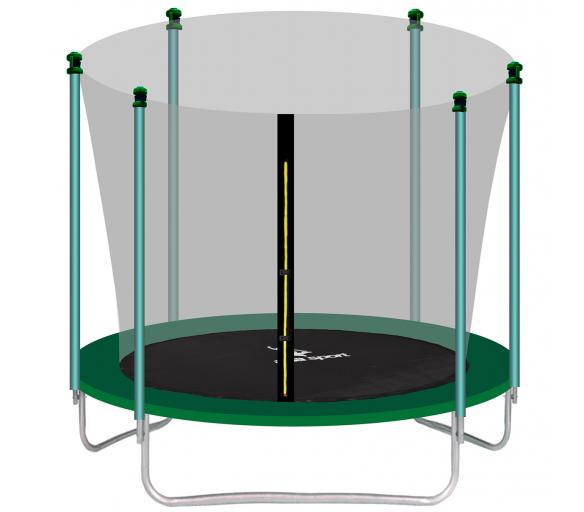 Aga SPORT FIT Trampolína 305 cm Dark Green + vnútorná ochranná sieť + schodíky