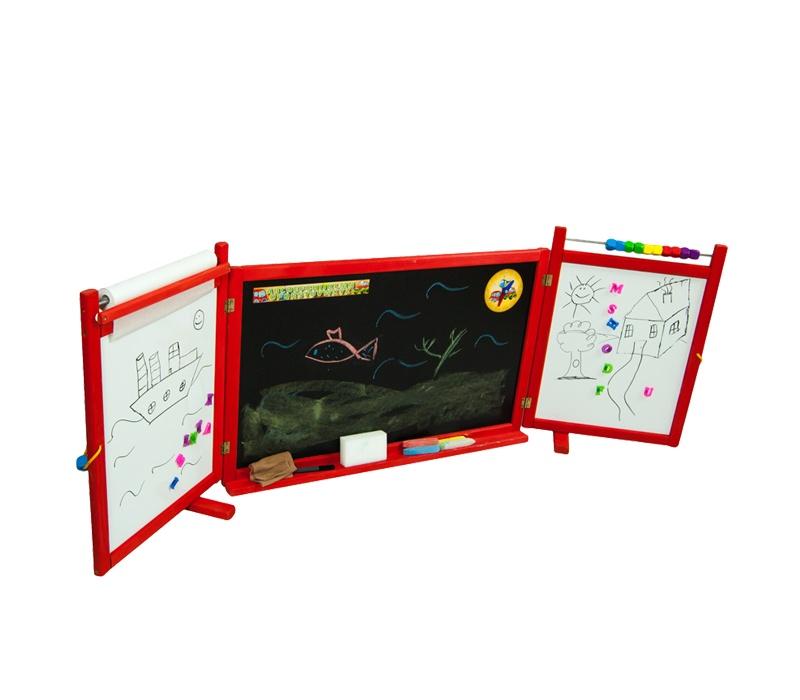 Aga4Kids Detská tabuľa WINDOW RED TS4