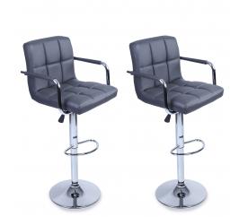 Tresko 2x Barová židle BH015 Grey