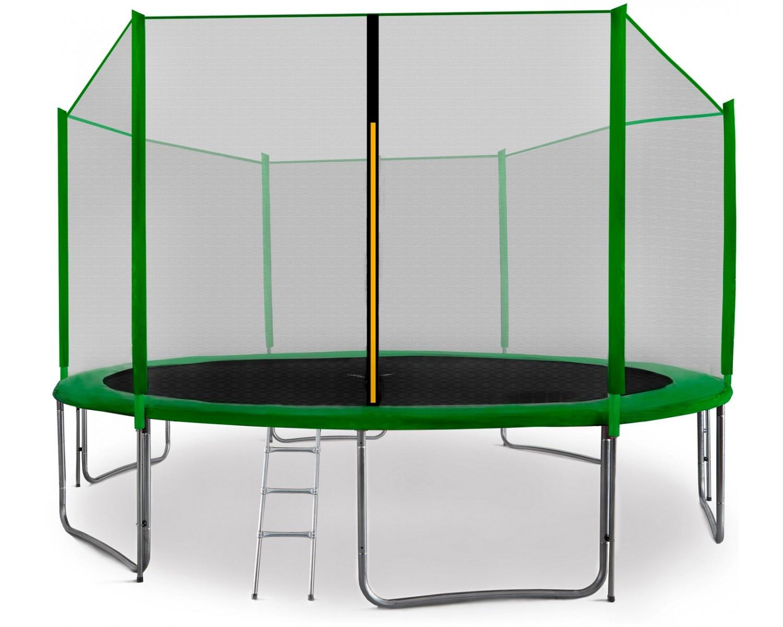 Aga SPORT PRO Trampolína 430 cm Dark Green + ochranná síť + žebřík + kapsa na obuv + krycí plachta 2018